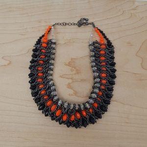Bright Orange Gunmetal Necklace
